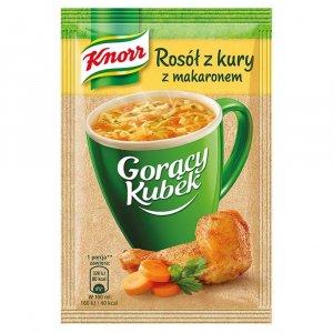 Zupa Knorr Gorący Kubek, rosół z kury, z makaronem, 12g