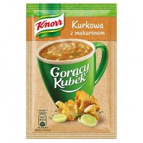 Zupa Knorr Gorący Kubek, kurkowa z makaronem, 13g