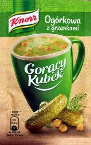 Zupa Knorr Gorący Kubek, ogórkowa z grzankami, 13g