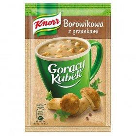 Zupa Knorr Gorący Kubek, borowikowa z grzankami, 15g