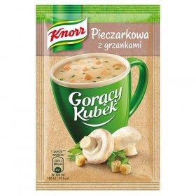Zupa Knorr Gorący Kubek, pieczarkowa z grzankami, 15g