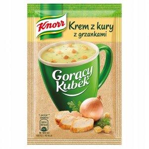 Zupa Knorr Gorący Kubek, krem z kury z grzankami, 16g