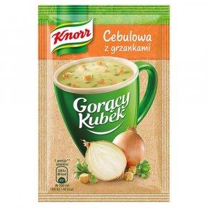 Zupa Knorr Gorący Kubek,  cebulowa z grzankami, 17g
