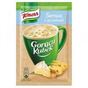 Zupa Knorr Gorący Kubek, serowa z grzankami, 22g