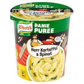 Danie błyskawiczne puree Knorr, szpinak i ser, kubek, 47g