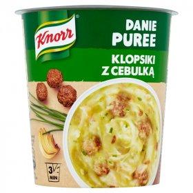 Danie błyskawiczne puree Knorr, klopsiki z cebulką, kubek, 53g