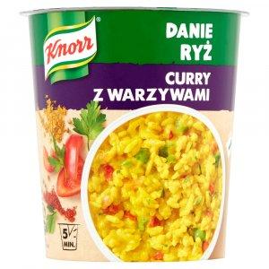 Danie błyskawiczne z ryżem Knorr, curry z warzywami, kubek, 73g