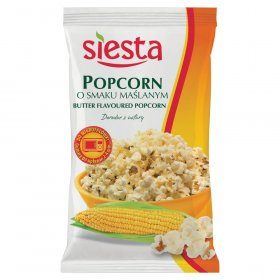 Popcorn Siesta, maślany, do mikrofalówki, 90g