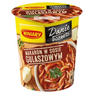 Danie w 5 minut Winiary, makaron w sosie gulaszowym, kubek, 55g
