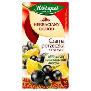 Herbata owocowa w torebkach Herbapol Herbaciany Ogród, czarna porzeczka z cytryną, 20 sztuk x 2.7g