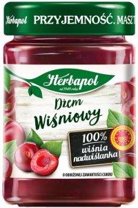 Dżem Herbapol, wiśniowy, niskosłodzony, 280g