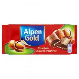 Czekolada Alpen Gold, mleczna orzechowa, 90g