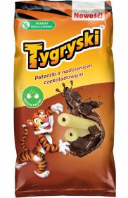 Chrupki kukurydziane Tygryski, z nadzieniem czekoladowym, 70g