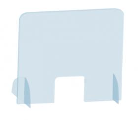 Przegroda na biurko/ladę 2x3,  plexi, grubość 5mm, pionowa, 50x81cm, transparentny (c)