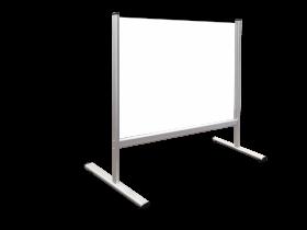 Przegroda na biurko/ladę 2x3, plexi, grubość 5mm, 100x65cm, transparentny (c)