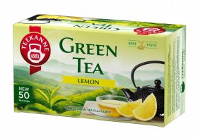 Herbata zielona smakowa w torebkach Teekanne Green Tea Lemon, cytryna, 50 sztuk x 1.65g
