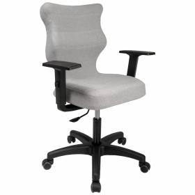 Krzesło obrotowe biurowe  Entelo Uni, rozmiar 6, szary melanż