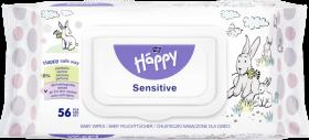 Chusteczki nawilżane dla dzieci Bella Happy Sensitive Aloe, 56 sztuk