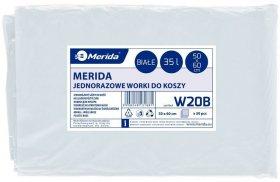 Worki na śmieci Merida Optimum, 35l, 50x60 cm, 50 sztuk, biały