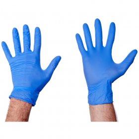 Rękawiczki nitrylowe, rozmiar S, 200 sztuk, niebieski (c)