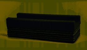 Gąbka filcowa do tablic Memoboards, 10 warstw filcu, szary