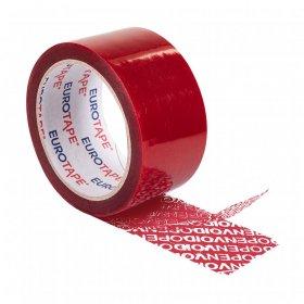 Taśma bezpieczeństwa Dalpo plombująca, 50mm x 50m, czerwony