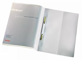 Skoroszyt plastikowy bez oczek Esselte Panorama, sztywny z wąsami, A4, do 250 kartek, 25 sztuk, biały