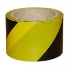 Taśma ostrzegawcza Dalpo, 75mmx100m, czarno-żółty