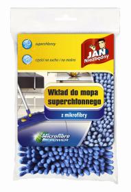 Mop płaski z mikrofibry Jan Niezbędny, superchłonny, granatowy - końcówka