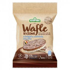 Wafle ryżowe Kupiec, z mleczną czekoladą, 30g