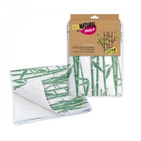 Ścierka podłogowa York Bambus, bambus, 1 sztuka, biało-zielony