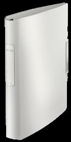 Segregator Leitz Style SoftClick, A4, szerokość grzbietu 52mm, do 280 kartek, 4 ringi, biały