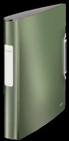 Segregator Leitz Style SoftClick, A4, szerokość grzbietu 52mm, do 280 kartek, 4 ringi, seledynowy