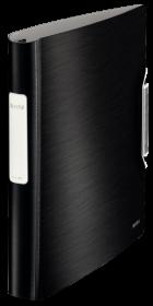 Segregator Leitz Style SoftClick, A4, szerokość grzbietu 52mm, do 280 kartek, 4 ringi, czarny