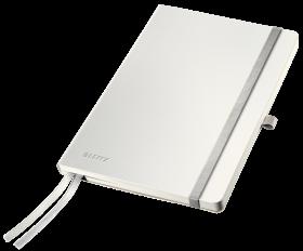 Notatnik w kratkę Leitz Style, A5, miękka oprawa, 80 kartek, biały