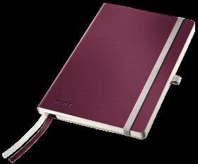 Notatnik w kratkę Leitz Style, A5, miękka oprawa, 80 kartek, ciemnoczerwony