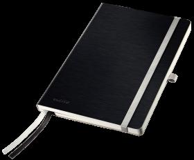 Notatnik w kratkę Leitz Style, A5, miękka oprawa, 80 kartek, czarny