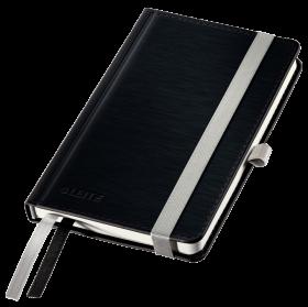 Notatnik w kratkę Leitz Style, A6, twarda oprawa, 80 kartek, czarny