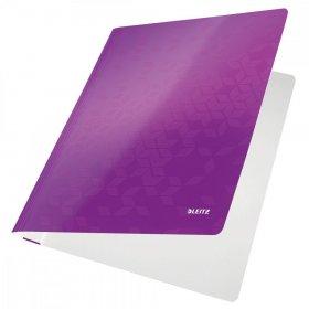 Skoroszyt kartonowy bez oczek Leitz Wow, A4, do 250 kartek, 300g/m2, fioletowy
