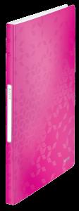 Album ofertowy Leitz Wow, A4, 40 koszulek, różowy