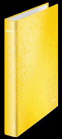 Segregator ringowy Leitz Wow, A4+, szerokość grzbietu 40mm, 4 ringi, żółty