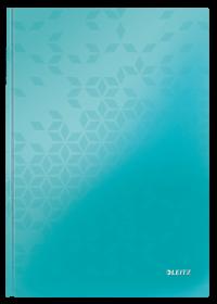 Brulion w kratkę Leitz Wow, A4, twarda oprawa, 80 kartek, turkusowy