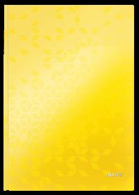Brulion w kratkę Leitz Wow, A4, twarda oprawa, 80 kartek, żółty