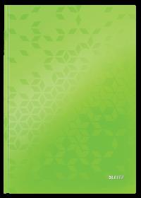 Brulion w kratkę Leitz Wow, A4, twarda oprawa, 80 kartek, zielony