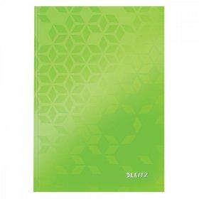 Brulion w kratkę Leitz Wow, A5, twarda oprawa, 80 kartek, zielony