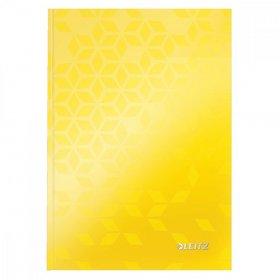 Brulion w kratkę Leitz Wow, A5, twarda oprawa, 80 kartek, żółty