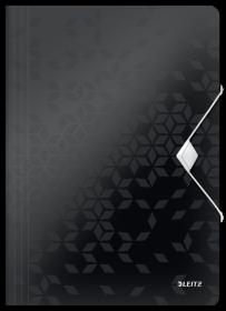 Teczka plastikowa z gumką Leitz Wow, A4, 15mm, czarny