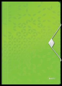 Teczka plastikowa z gumką Leitz Wow, A4, 15mm, zielony