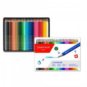 Kredki ołówkowe sześciokątne Caran d'Ache Fancolor, 30 sztuk, mix kolorów