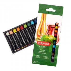 Zestaw pasteli olejnych Derwent Academy, 12 sztuk, mix kolorów